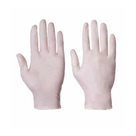 دستکش لاتکس آزمایشگاهی پودری